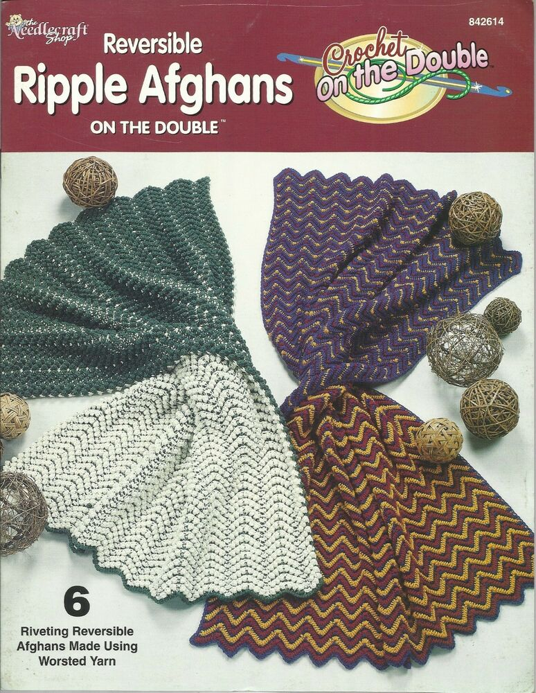 Reversible Ripple Afghans On The Double Crochet Needlecraft Shop