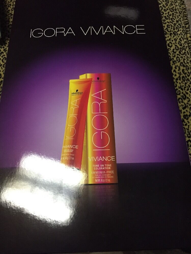 Schwarzkopf Igora Viviance Swatch Book Chart Hair Color And Guide Ebay