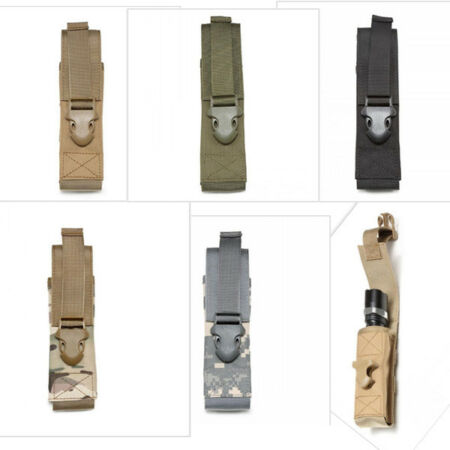 img-Multifonction MOLLE Magazine Mag Flashlight Pouch Holster Bag For Tactical