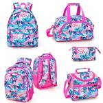FLORAL Pink FLAMINGO Backpack Rucksack Cooler Lunch Travel Bag Girls School Bag