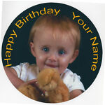 Pre-Cut Personalised Edible Photo Rice Paper cake Topper