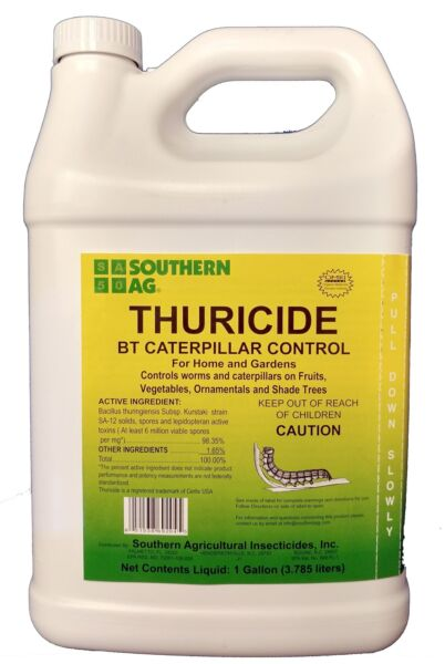 Southern Ag Thuricide HPC For Control of Caterpillars & Worms, 1 Gallon - 128oz