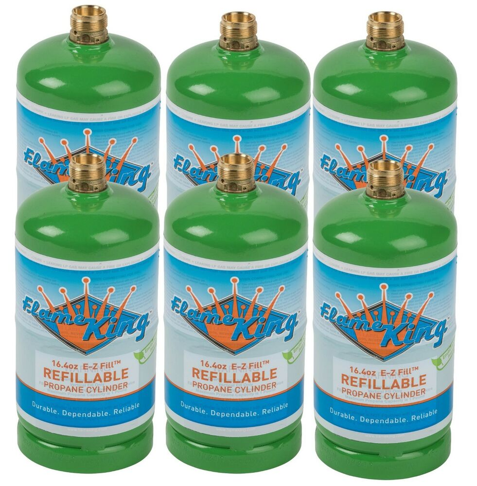 6-Pack 1lb Refillable Camping Propane Tank Cylinder 16.4 ...