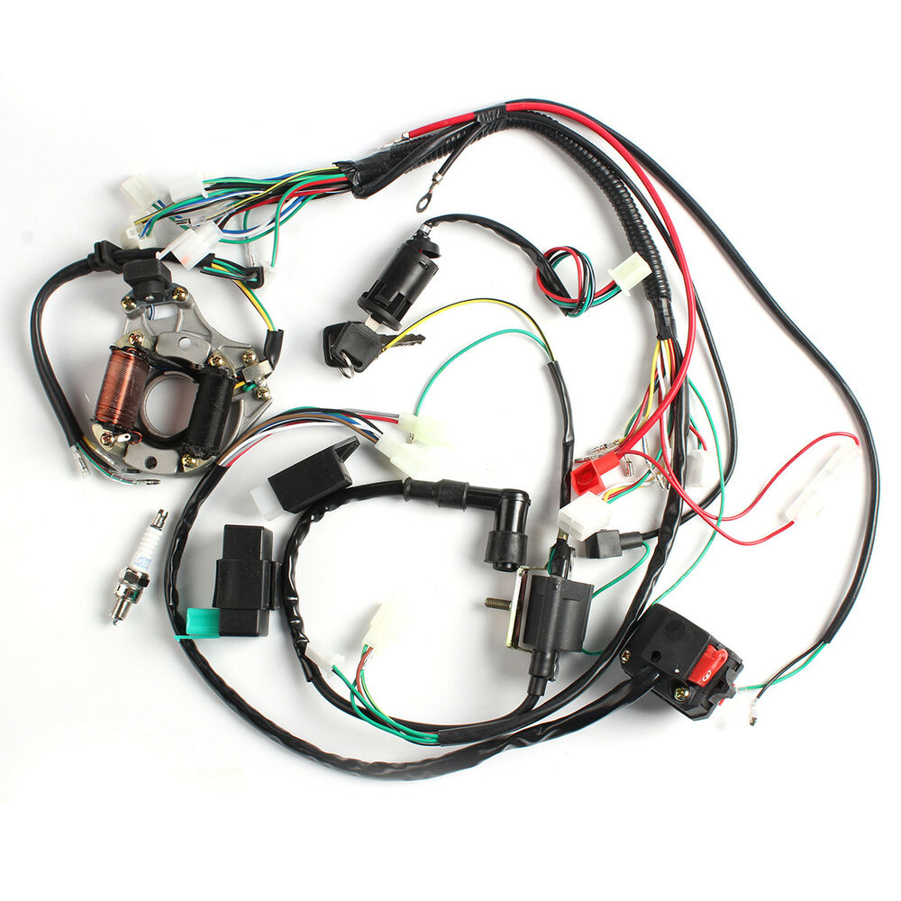 new 50cc 70cc 90cc 110cc cdi wire harness assembly wiring ... wire harness assembly process #10