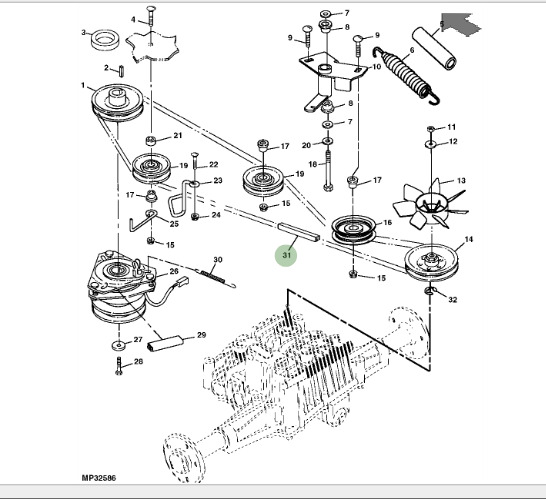 35 John Deere 325 Drive Belt Diagram