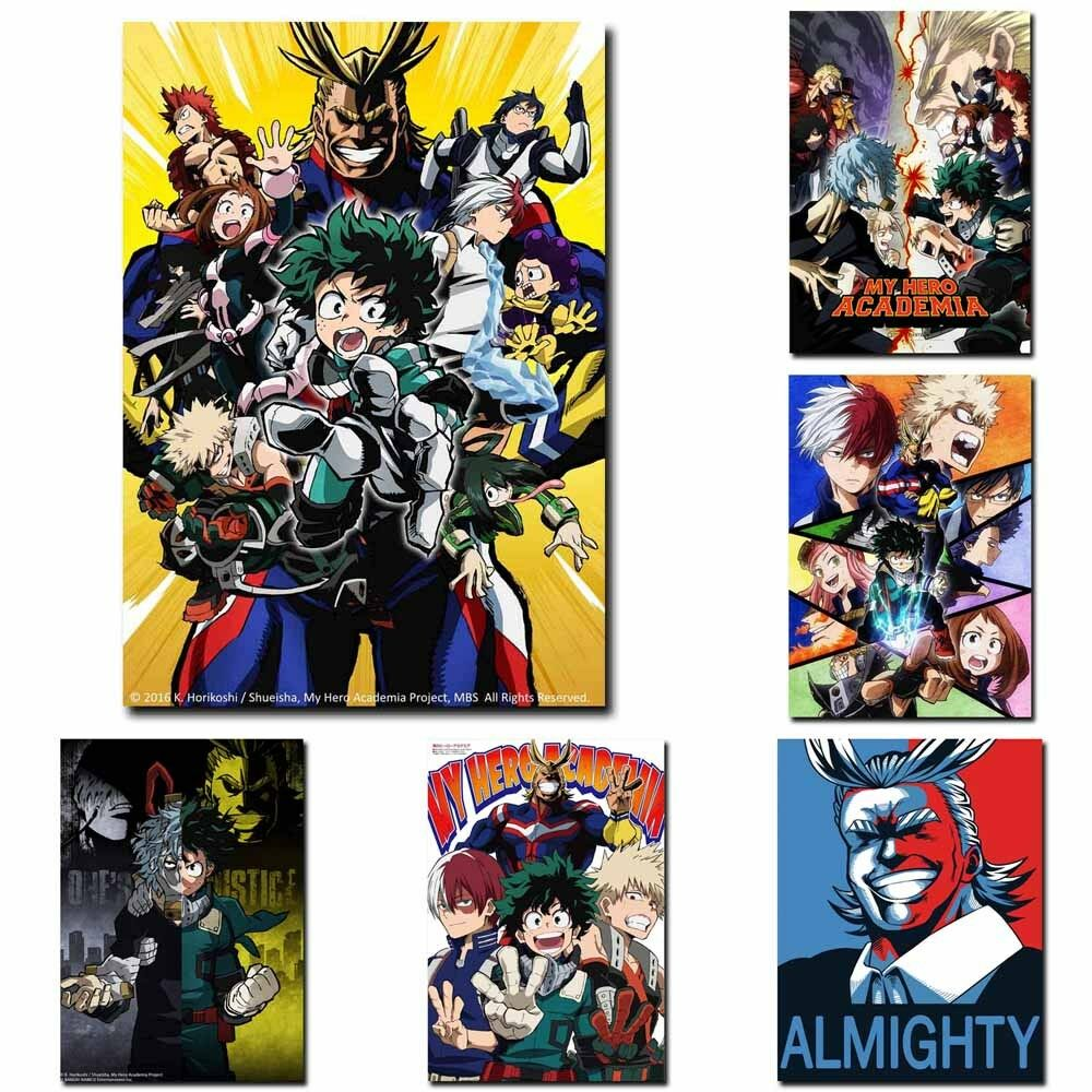Details about my hero boku no hero academia 12x8inch anime tv silk poster wall door decoration