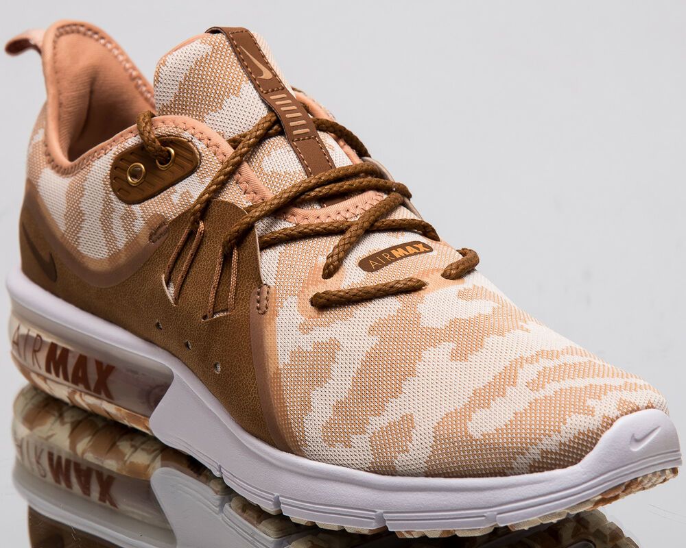 5669ba84bb4 Details about Nike Air Max Sequent 3 Premium Camo Men New Cream Ruuning  Sneakers AR0251-200