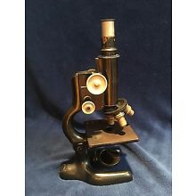 Antique 1920 BAUSCH & LOMB Brass and Cast Iron Scientific Laboratory Microscope