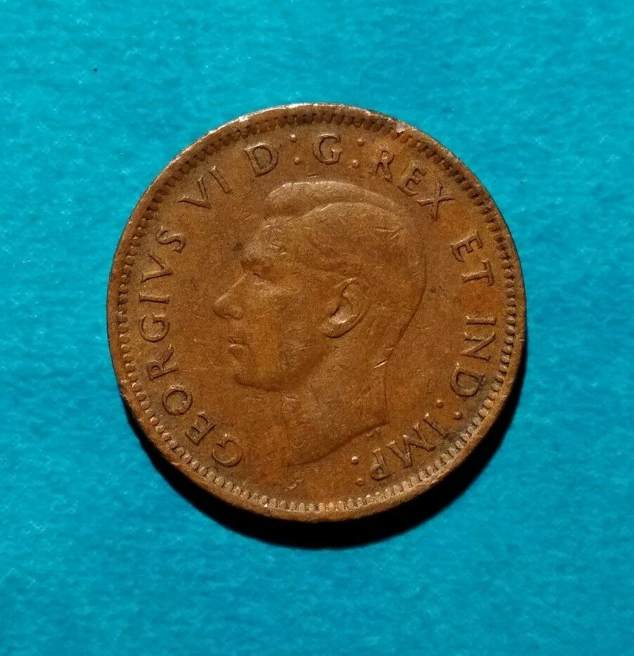 1946 Canadian Penny Canada One 1 Cent King George Vi 6 Ebay