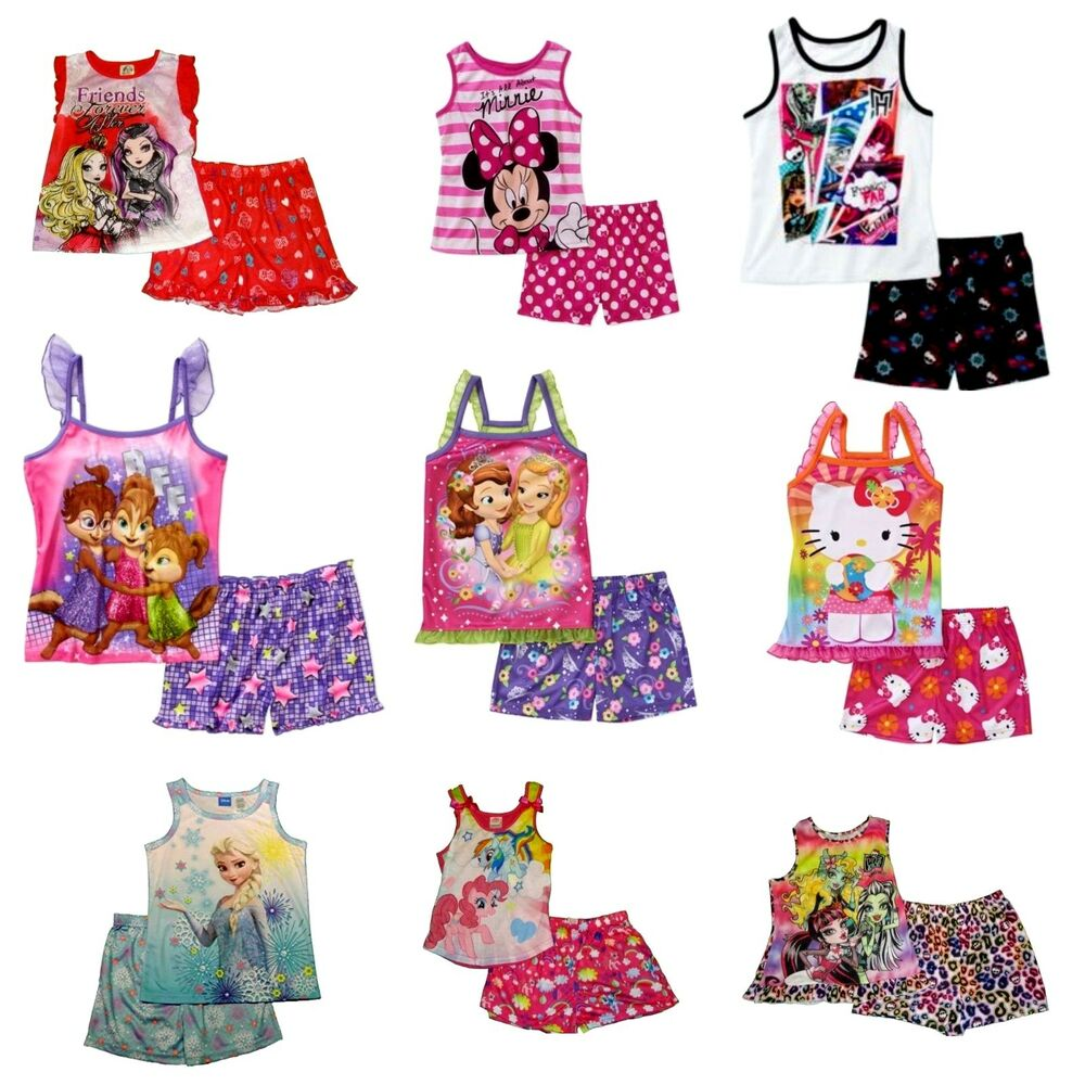 c54b01407 Girls  2-Piece Pajama Set Minnie Mouse Monster High Hello Kitty ...