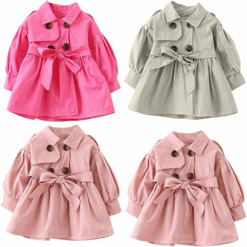 393aa1c87 Kids Toddler Baby Girls Winter Trench Coat Jacket Outerwear ...
