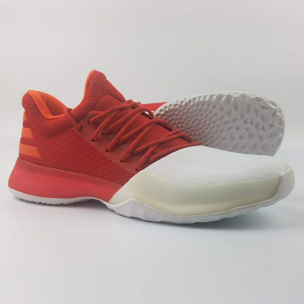 b32261308e8 Details about Adidas James Harden Vol 1 Youth Basketball Shoes Red White  BY3483 Boost Kids