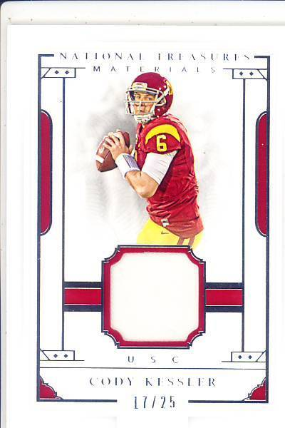 afccaef79df Details about cody kessler rc rookie draft game used gu jersey patch usc  trojans college #/25
