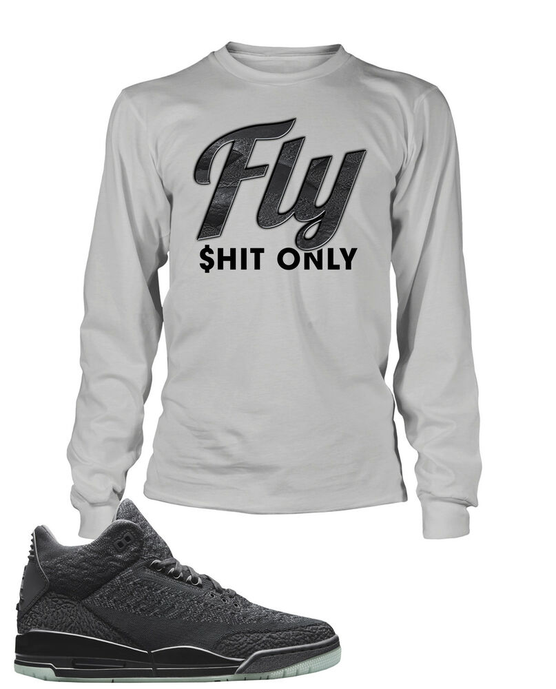 8e06935a Details about Fly Sneaker Graphic Tee Shirt To Match Air Jordan 3 Flyknit  Big Tall Small