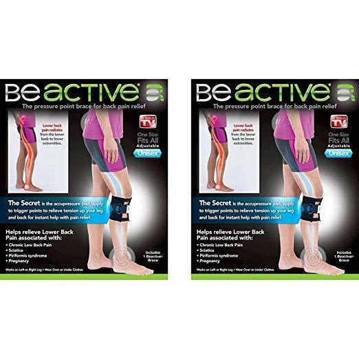 30571dd1ee Details about 2x BeActive Brace As Seen on TV Acupressure Relieve Tension  Sciatic Nerve 2 Pack