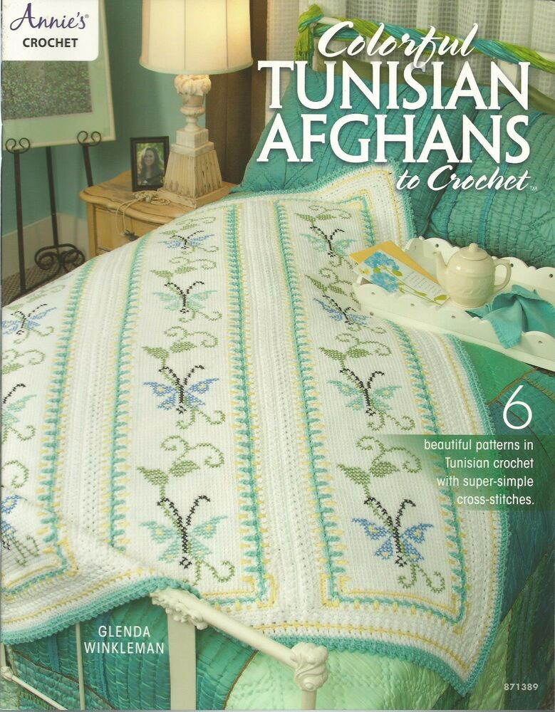 Colorful Tunisian Afghans To Crochet Instruction Patterns Annies