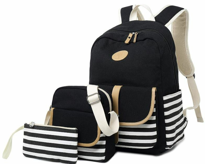 Details about Girls Teens School Backpack Book Bags Set Women High College  Bookbags Laptop Bag 545043ed1da59