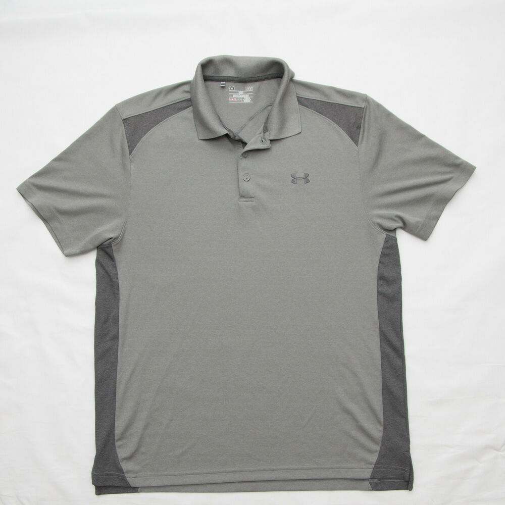 Under Armour Mens Polo Shirt Active Wear Golf Embroidered Size Large