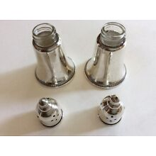 Vintage Signed Pair STERLING Weighted DUCHIN CREATION Salt & Pepper Shakers