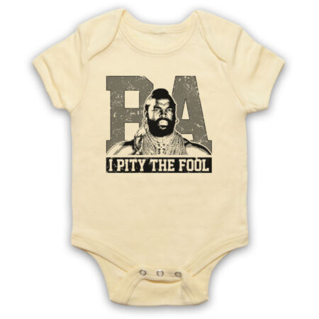 img-BA BARACUS THE A TEAM MR T I PITY THE FOOL UNOFFICIAL BABY GROW BABYGROW GIFT