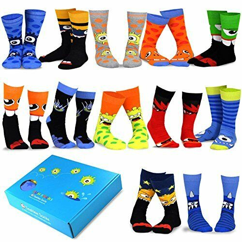 214dd39fc2c Details about TeeHee Novelty Socks 12-Pack Christmas Gift Box Holidays