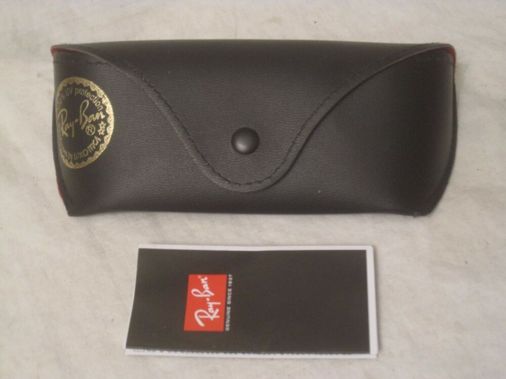 31c2fbc4ef Details about Ray-Ban Luxottica case sunglasses glasses holder container w   booklet