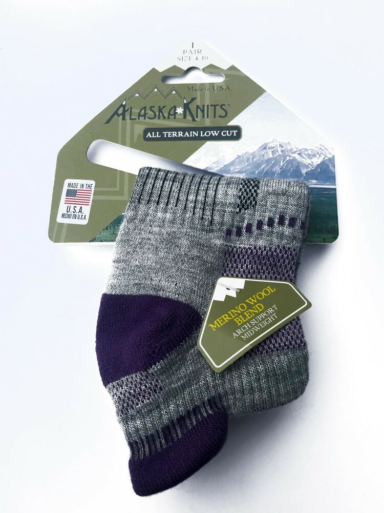 62772e9afd2a6 Details about ALASKA KNITS™ MERINO WOOL LADIES' ALL TERRAIN LOW CUT SOCKS  1-pack MADE IN USA