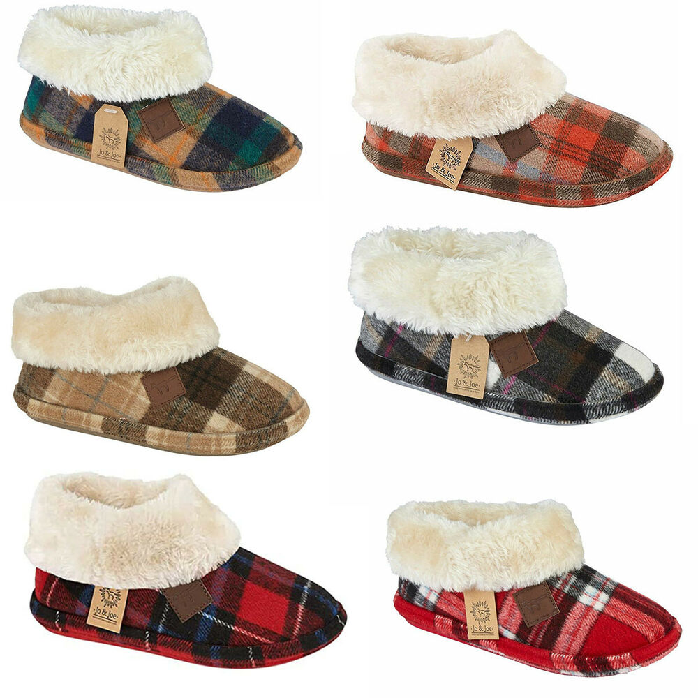 b5250b916bc5 Details about Ladies Faux Suede Sheepskin Fur Collar Fleece Lined Bootee  Slippers GlenRoyal CT