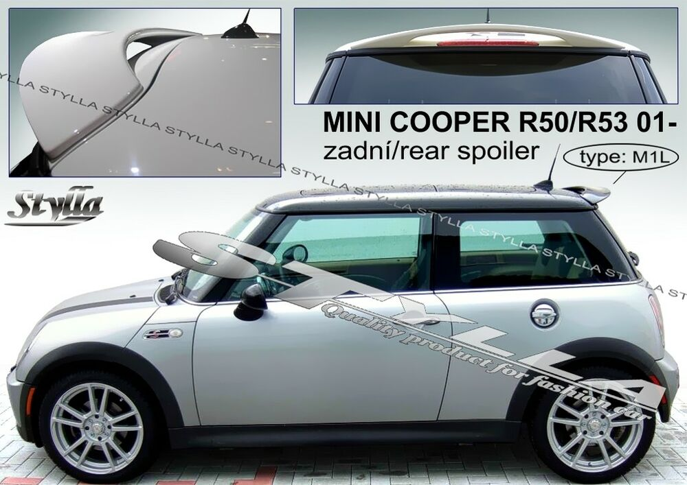 spoiler rear roof mini cooper r50 r53 wing accessories ebay. Black Bedroom Furniture Sets. Home Design Ideas