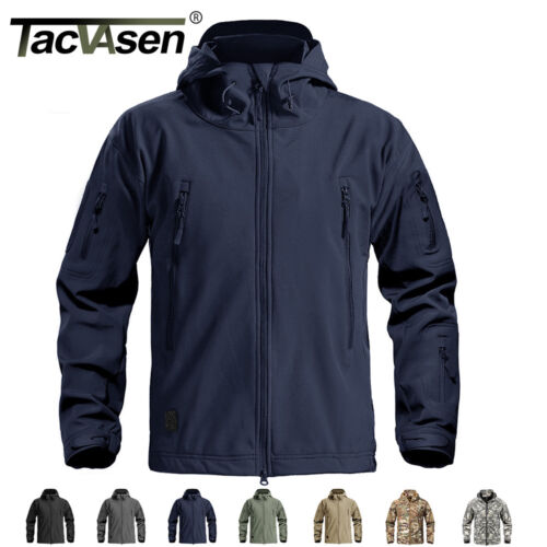 TACVASEN Waterproof Outdoor Mens Jackets Coats Safari Expedition Tactical Jacket