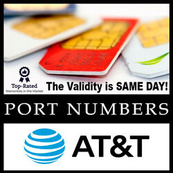 Kyпить AT&T Port Numbers | MUST USE IT SAME DAY | Numbers for Port | Same day Validity! на еВаy.соm
