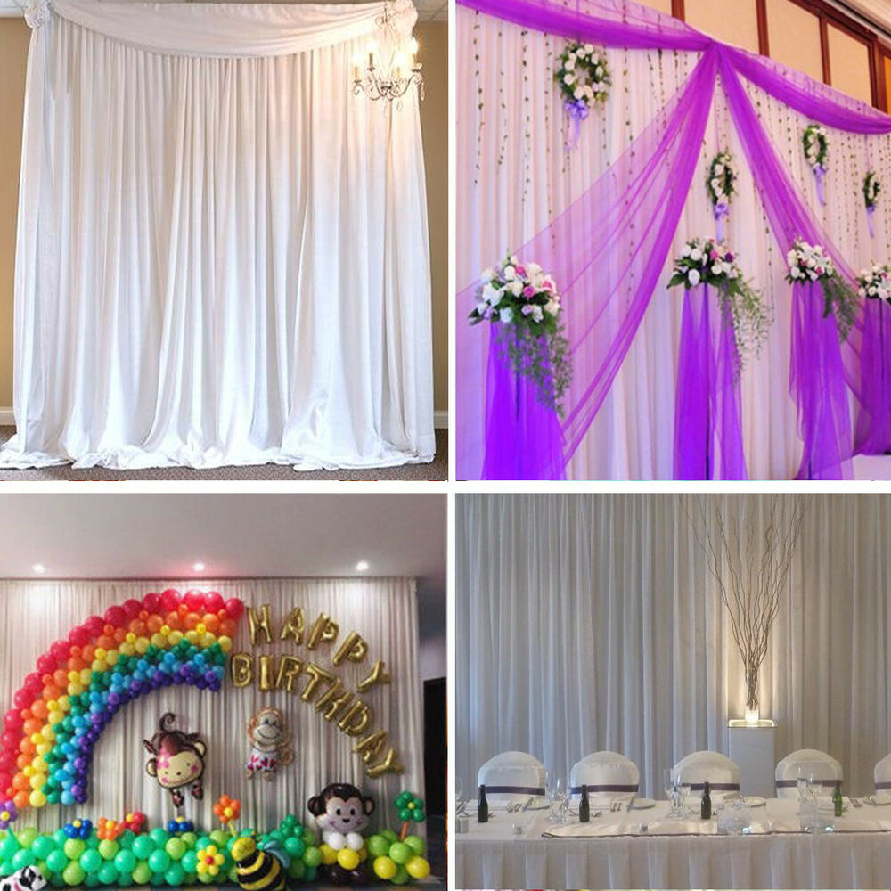 Backdrop Curtains Without Swag Ice Silk Wedding Birthday Party