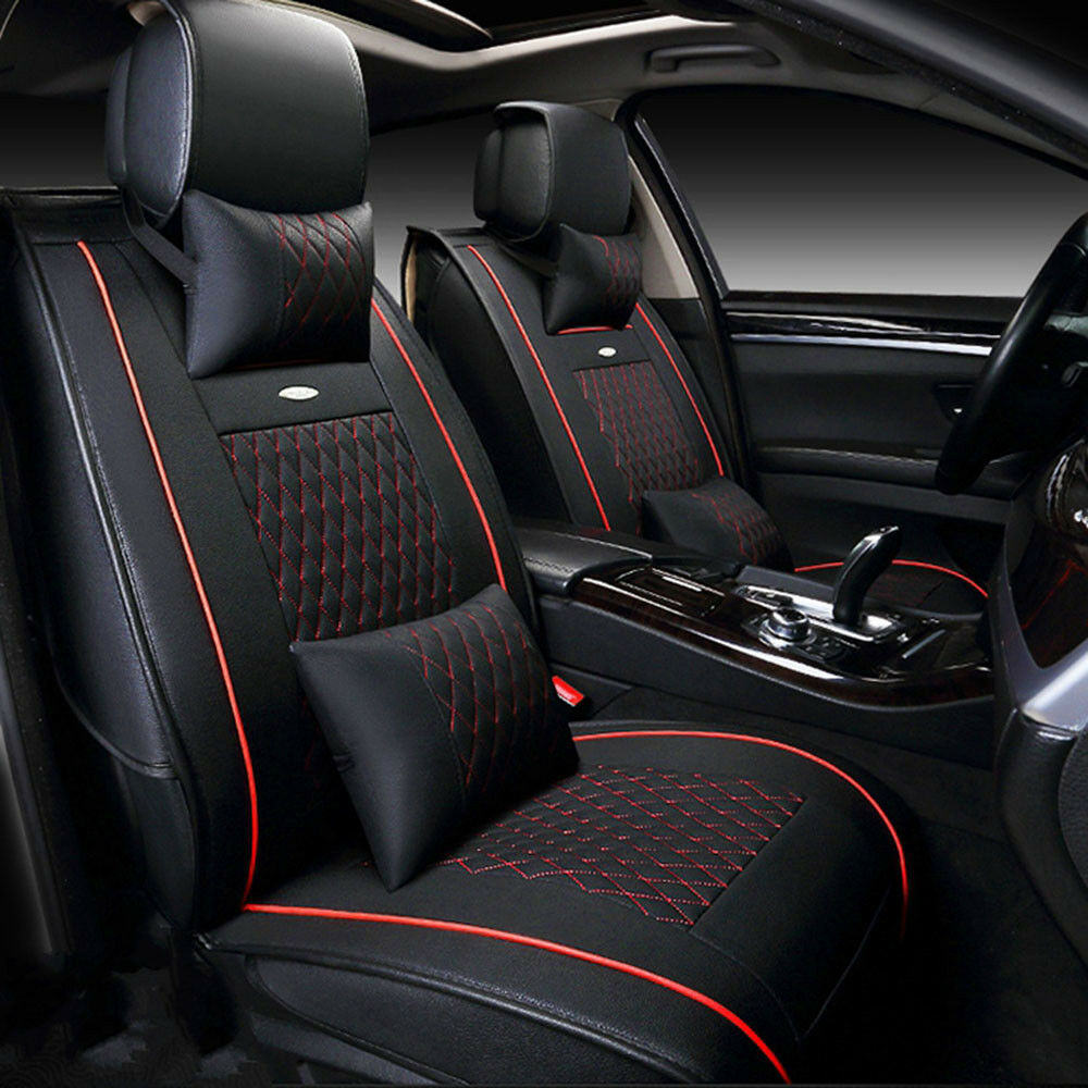 Us Black Red Car Pu Leather Seat Cover For Nissan Altima