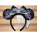 Disney Parks Haunted Mansion Minnie Ears Headband Gargoyle Maid Bow NEW
