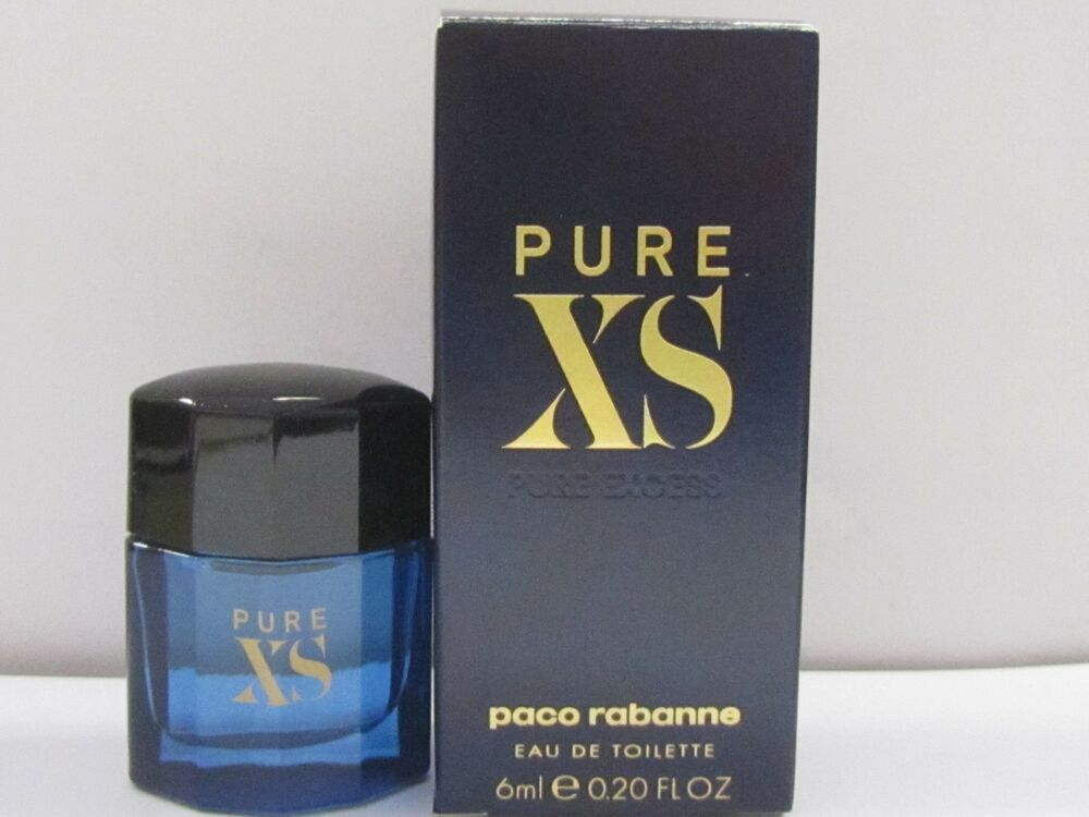 4a1f9832ad Details about Pure XS By Paco Rabanne Men Cologne Mini 6 ml  0.20 fl.oz Eau  DeToilette Splash