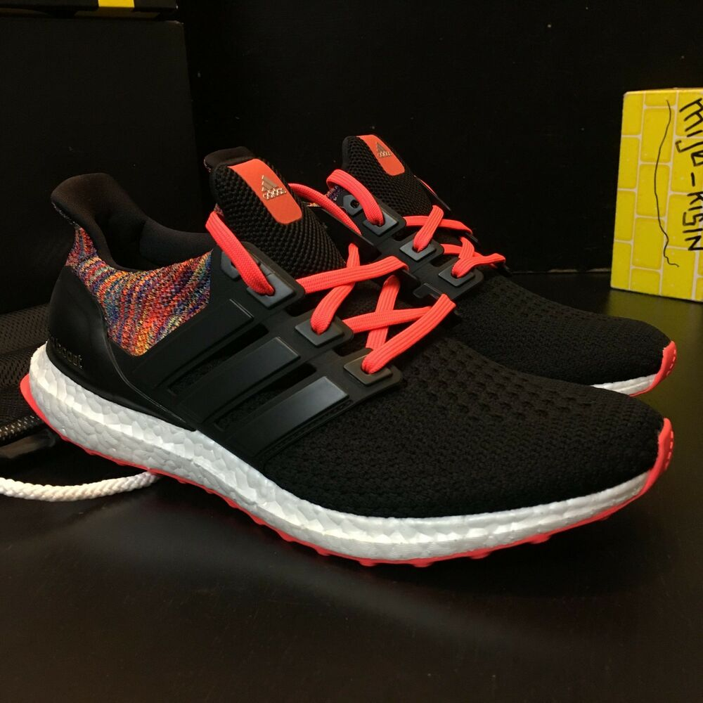 831067254 Details about Brand New Adidas Ultra Boost 2.0 MiAdidas Rainbow   Black Men  Size 9