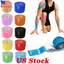 US 5M Waterproof Kinesiology Sports Muscles Care Elastic Physio Therapeutic Tape