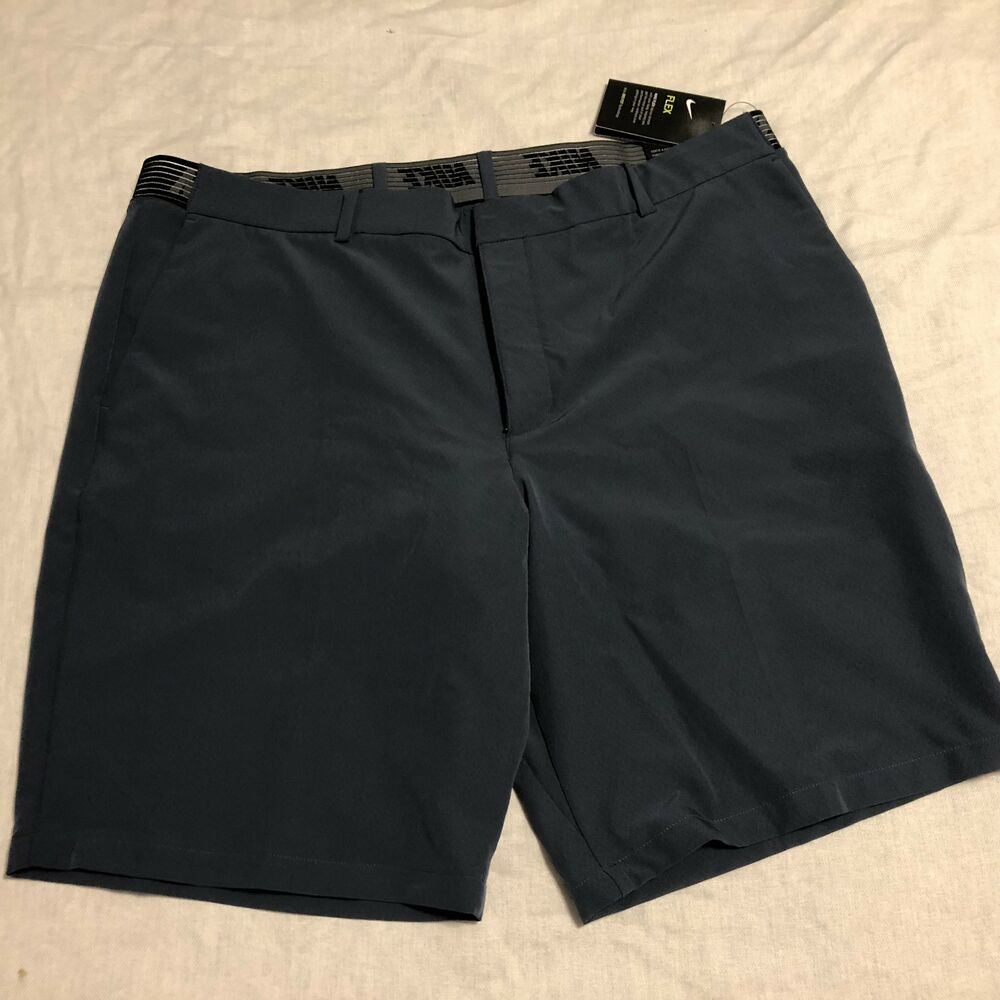 15e2a0507cdd Details about NIKE Golf Slim Flax Men s Golf Shorts Size 40 Blue 891932-471