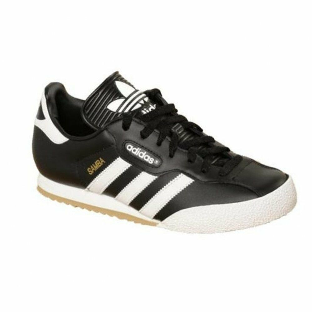 1f9ec15ab47509 Details about Adidas Samba Super Leather Black   White (Z30) 019099 Mens  Trainers All Sizes