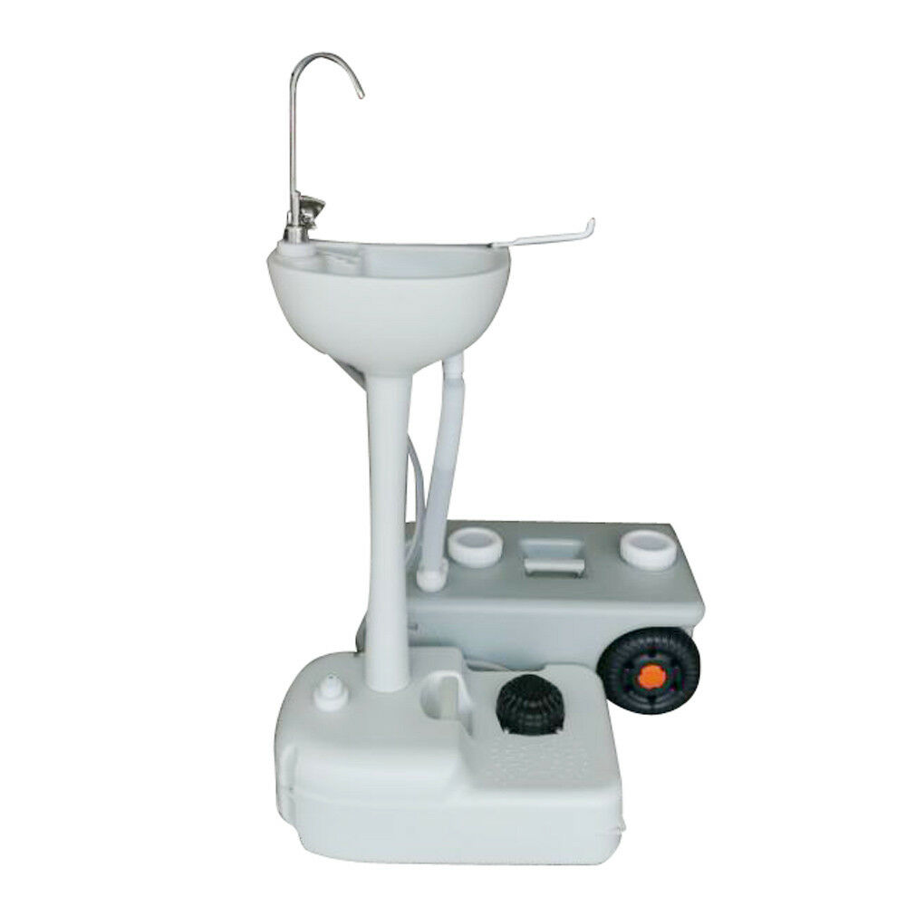 Outdoor Portable Hand Washing Sink Faucet Station W Garden