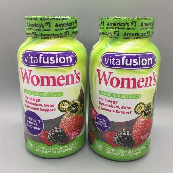 Vitafusion Women´s Energy Metabolism Bone Support 150 Gummies (2 Pack)