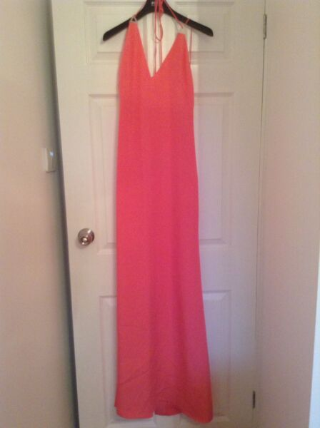 BNWT 100% Auth EMILIO PUCCI Pink Maxi Long Dress. UK 10