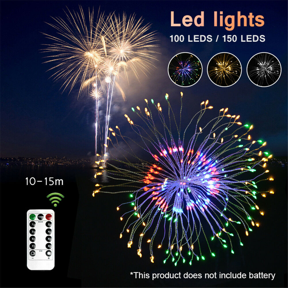 Firework LED Silver Wire String Lights LED Fairy Lights