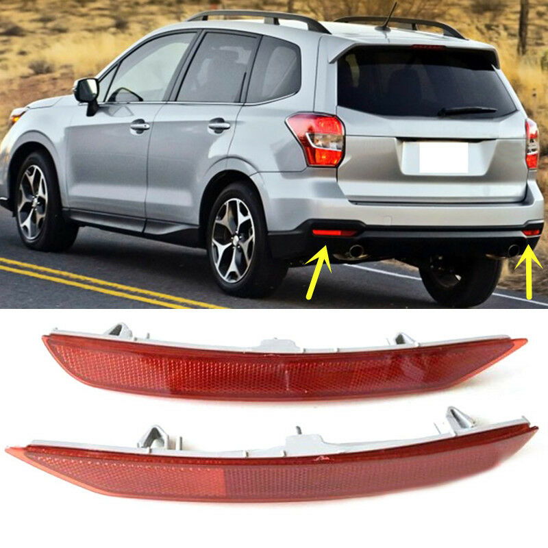 Details About For Subaru Forester 2009 2016 Red Rear Per Reflector Tail Brake Fog Light