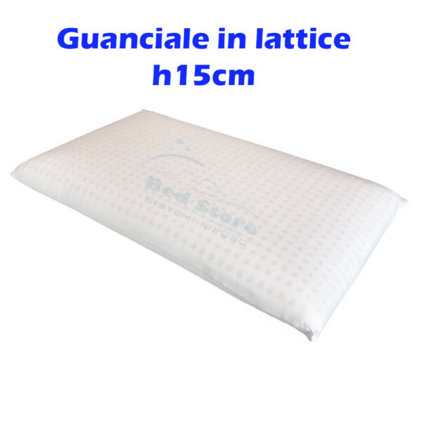 CUSCINO NEXT GUANCIALE IN LATTICE ALTO 15CM SFODERABILE TRASPIRANTE ANALLERGICO