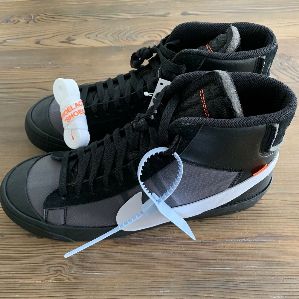 a0e584b9ae Details about In-Hand New Nike Blazer Mid Off-White Grim Reaper Size US  11.5 AA3832-001 Black