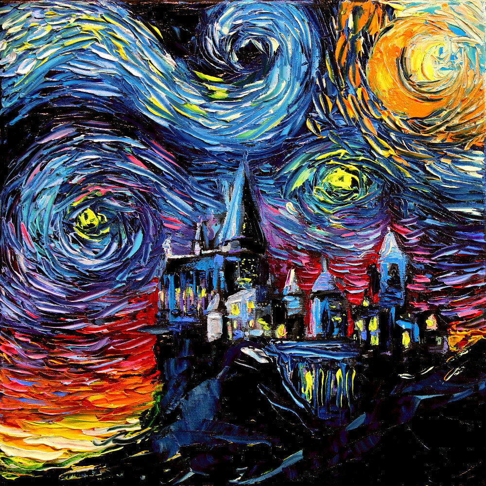 van Gogh Never Saw Hogwarts Castle Potter Wall Art Print Starry ...