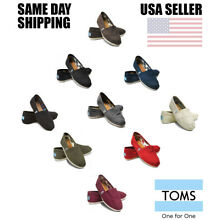 Brand New Authentic Womens Toms Classic Slip On Flats Canvas Shoes US sizes