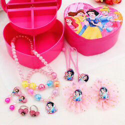 Kids Jewelry Set-Necklace Ring Bracelet Earrings Ring Hair Clips Christmas Gifts