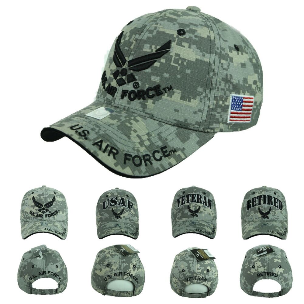 276c56d0b0 Details about USA AIR Force Baseball Cap US Air Force USAF Veteran Retired  Hats CAMO Hat Caps